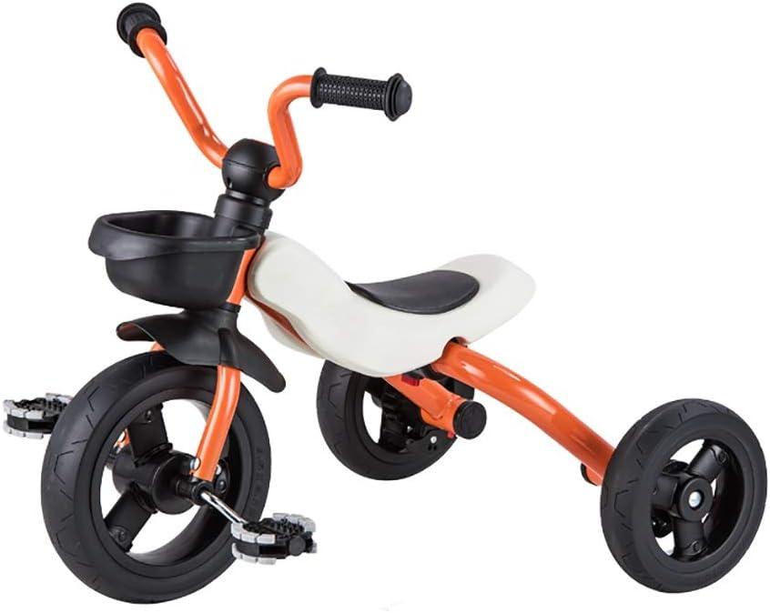 NBgy Triciclo, Triciclo 2 En 1 para Niños, Multifunción, Sin Cargo, Triciclo para Bebés De 2 A 6 Años, 4 Colores, 53x63x45cm (Color : Naranja)