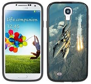 Fighter Jet Air Force Handmade Samsung Galaxy S4 Black Bumper Hard Plastic Case