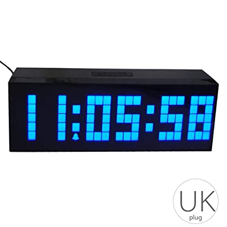 Repetición Digital LED de Alarma del Reloj de Pared Mesa de Escritorio Dormitorio Niños habitación Regalo