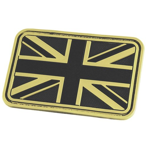 Hazard 4 3D Union Jack UK Flag Morale Patch Glow in the Dark