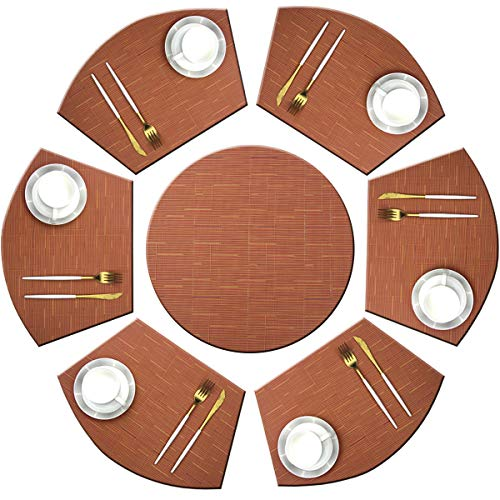 Bright Dream Wedge Placemats with Centerpiece for Dinning