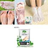 Product review for Promisen Hot Remove Dead Skin Foot Mask Peeling Cuticles Heel Feet Care Anti Aging