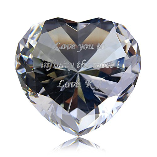 Personalized Custom Engraved Crystal Diamonds - Custom Heart