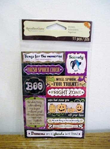 Recollections Halloween Signature Stickers - 11 Stickers Halloween
