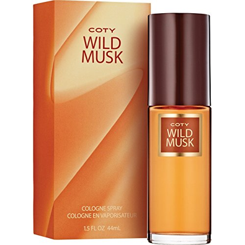 Coty Wild Musk Cologne Spray 1.5 Ounce (1 Count), Women's' Fragrance in a Musky Floral Scent, Great Gift for Cologne or Perfume Lovers (White Musk Freesia Eau De Toilette)