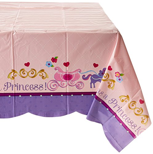 Amscan Disney Sofia the First Plastic Table Cover Princess Birthday Party Tableware Decoration Others Supplies (6 Piece)