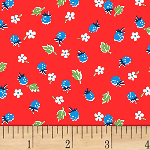 Windham Fabrics Sugar Sack Berries Red Fabric by The Yard