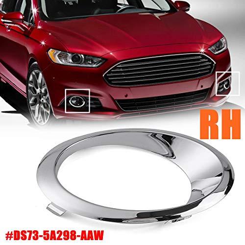 Cacys-Store - LH/RH Chrome Fog Light Cover Bezel Trim Ring for Ford Fusion Mondeo 2013 2014 2015