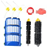 efluky Replacement Accessories Kit for Roomba 600 Series 600 620 630 650 655 660 680- Includes 3 Pack Filter and Side Brush, 1 Pack Bristle Brush and Flexible Beater Brush, 1 Pack Cleaning Tool