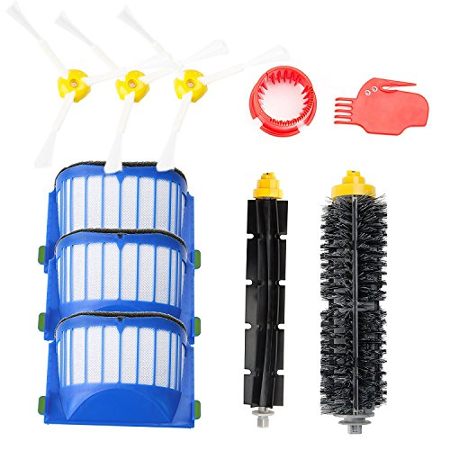 efluky Roomba 600 Series Replacement Parts Kit Filters Side brushes Bristle Brushes Flexible Beater Brushes Cleaning Tools accessories for iRobot Roomba 600 610 620 630 650 655 660 585 595 680 690