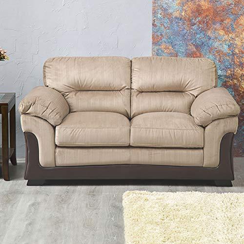 Home Centre Vertigo Fabric Sofa 2 Seater Brown