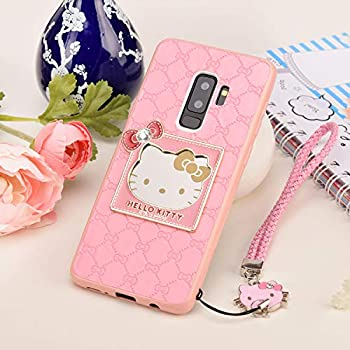 b8af4f5dc Galaxy S9 Plus Hello Kitty Case Luxury Fashion Cat Cover Soft Silicone PU  Leather Cases for Women Ladies (Pink, Samsung Galaxy S9 Plus)