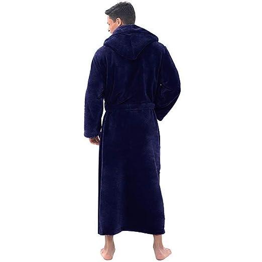 Invernale Cdoston Spesso Taglia L Caldo per Autunno e Inverno da Uomo Accappatoio a Maniche Lunghe