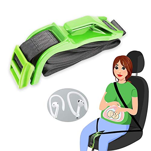 Green Belt Adjuster for Pregnant Woman's Seat, Maternity Woman's Seat Belt
