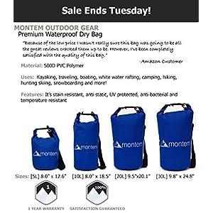 Montem Waterproof Bag / Roll Top Dry Bag, 20L - Blue