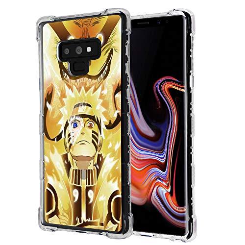 for Galaxy Note 9, Raised Edge Slim Protective Rubber TPU Case Cover - Naruto #Kurama (Naruto Phone Case Note 4)