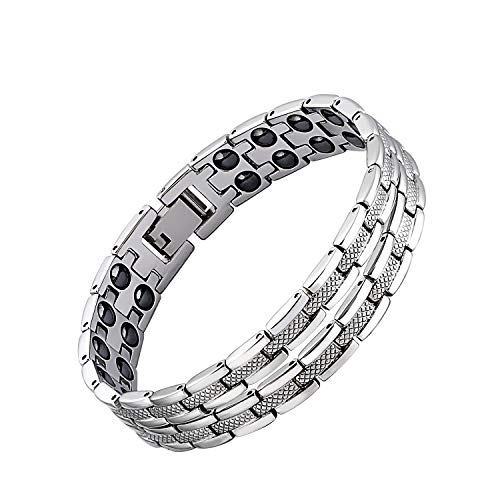 - iZion Magnetic Therapy Bracelet Pain Relief for Arthritis Stainless Steel Health Wristband Gift for Men Women with Free Link Removal Tool (8.1