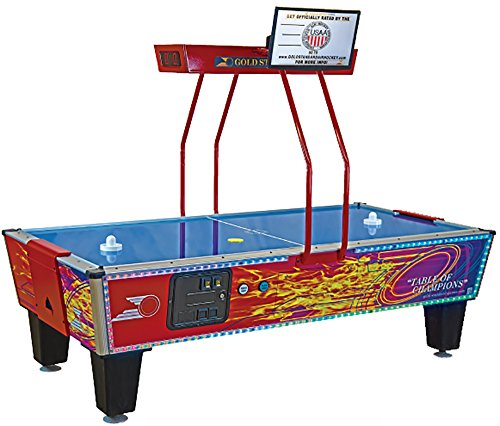 (Gold Standard Games Gold Flare Premium Coin-Op Air Hockey Table)