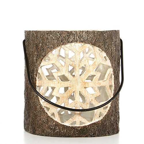 Hosley Resin Snowflake Votive Holder. Ideal Gift, Wedding Spa Bridal, Aromatherapy Reiki Chakra LED Votive Candle Garden Setting P2 ()