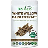 Cheap Biofinest White Willow Bark Extract Powder 1600mg – USDA Certified Organic Pure Gluten-Free Non-GMO Kosher Vegan Friendly – Supplement for Healthy Joint, Digestive Support, Skin Health (250g)
