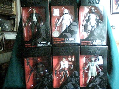 Star Wars: The Force Awakens The Black Series 6-Inch Action Figures Exclusive Aracoma Toy Collectibles Wave Case of 6 Action Figures