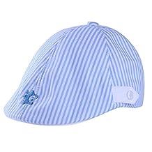 Qulexing 2-5 Years Babys Cotton Stripes Driver Hat Newsboy Cap Flat Hat Kids