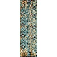 Unique Loom Arte Collection Blue 2 x 7 Runner Area Rug (2 x 6 7)