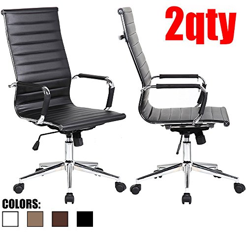 2xhome-set-of-two-2-black-eames-modern-high-back-tall-ribbed-pu-leather-swivel-tilt-adjustable-chair