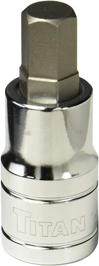 "Titan Tools 16140 9 Piece 1//4/"" Drive Stubby SAE Hex Bit Socket Set"