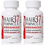 Hair Formula 37 Advanced 2 Month Supply - 120 Capsules -Vitamins for Hair Growth Supplements for Faster Growing Hair Skin and Nails Vegetarian Capsules