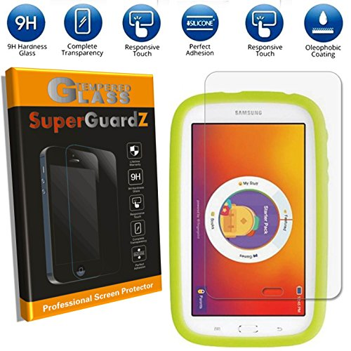 [2-PACK] For Samsung Galaxy Tab E Lite Kids 7 - SuperGuardZ Tempered Glass Screen Protector [Lifetime Replacement], 9H, 0.3mm, 2.5D Round Edge, Anti-Scratch, Anti-Bubble