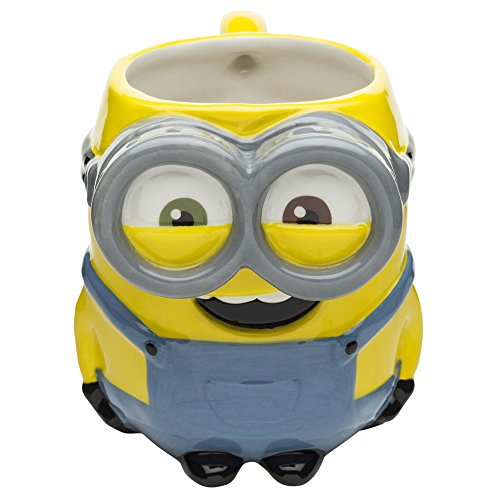 Zak Designs DESZ-8514 Minions Coffee Mugs, Sculpted, Movie -