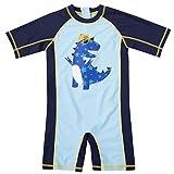 beautyin Little Boys one Piece Swimsuit Sun Protection Rash Guard Swimwear 3t