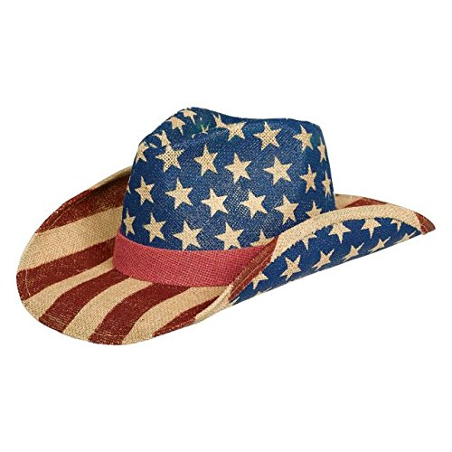 Patriotic Party Printed Cowboy Hat, 5