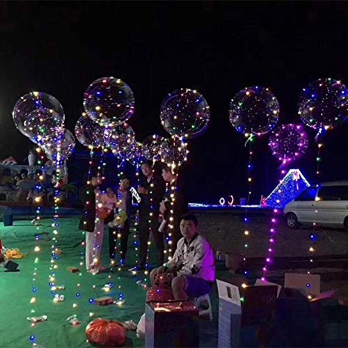 20inch Luminous Led Balloon,Transparent Round Bubble Decoration Party Wedding