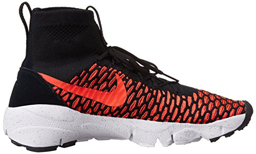 Nike Men's Air Footscape Magista Flyknit Football Boots, Grey Schwarz / Orange / Rot / Grau (Blk / Rd Brght Crmsn-gym-cl Gry)