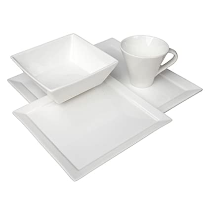 Fortessa Fortaluxe Vitrified China Dinnerware Tavola 16-Piece Place Setting Service for 4  sc 1 st  Amazon.com & Amazon.com | Fortessa Fortaluxe Vitrified China Dinnerware Tavola ...