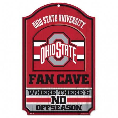Wincraft Collegiate Fan Shop Authentic NCAA Fan Cave Wooden Sign (Ohio State Buckeyes)