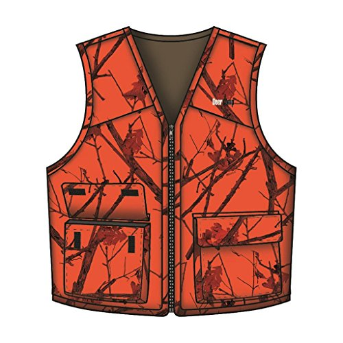 Br &Nameinternal Br &Nameinternal Deer Camp Vest Woodlot Blaze 4X-Large, Blaze Camo