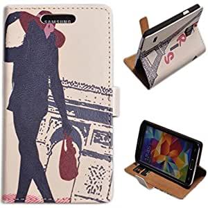Einzige Slim Fit Leather Case Cover for Samsung Galaxy S5 with Free Universal Screen-stylus (Fashionable Paris)