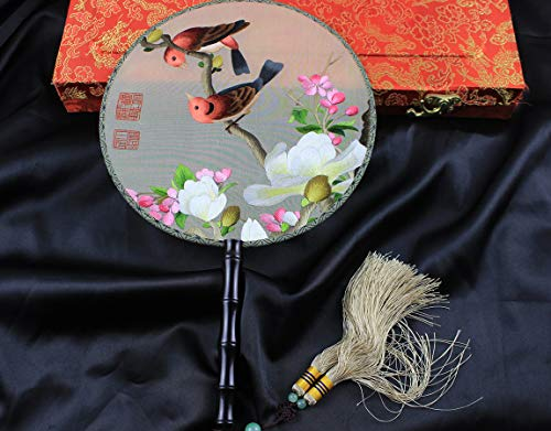 Traditional Chinese Needlwork 3D Lifelike Birds Embroidery Natural Silk Round - Silk Bird Embroidery