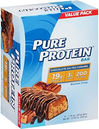 Pure Protein High Protein Bars, Chocolate Salted Caramel Bars, 1.76 Ounce, 6 Count Pack of 4