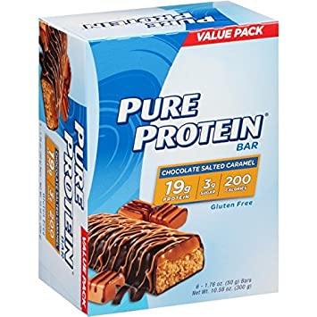 Pure Protein High Protein Bars, Chocolate Salted Caramel Bars, 1.76 Ounce, 6 Count Pack of 2