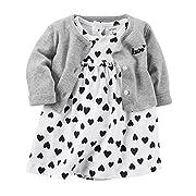 Carter's Baby Girls' Heart Dress and Cardigan 6 Months
