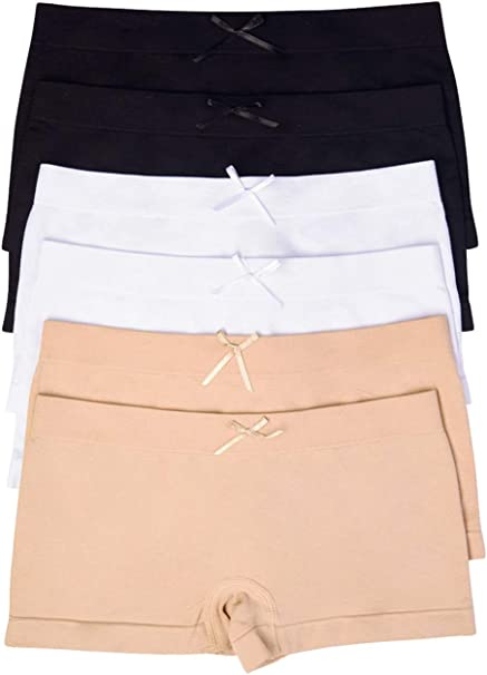 ToBeInStyle Boys Pack of 6 Seamless Solid Boxer Briefs