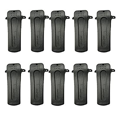 Tenq 10 X Belt Clip for Baofeng Radio H777 Bf-666s Bf-777s Bf-888s Bf-999s by TENQ