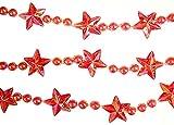 9 Ft. Pink Star & Bead Iridescent Christmas Garland #53934-BV