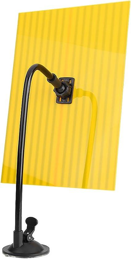 Hlyjoon PDR Strisce Riflettenti a LED Strumento per Riparazione Linea Consiglio Paintless Dent Repair Tool con Il Supporto Regolabile Giallo e Blu per Auto