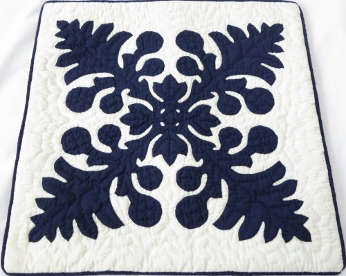 2 Hawaiian quilt throw pillow cover 18x18 100% hand quilted/100% hand appliqued (Pillowcase Hand Quilt Quilted)