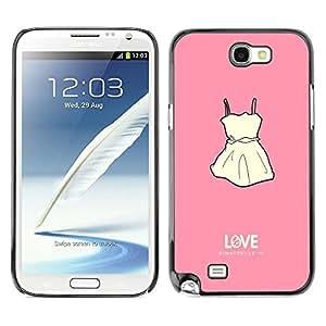 Dragon Case - FOR Samsung Note 2 N7100 - lock the door - Caja protectora de pl??stico duro de la cubierta Dise?¡Ào Slim Fit
